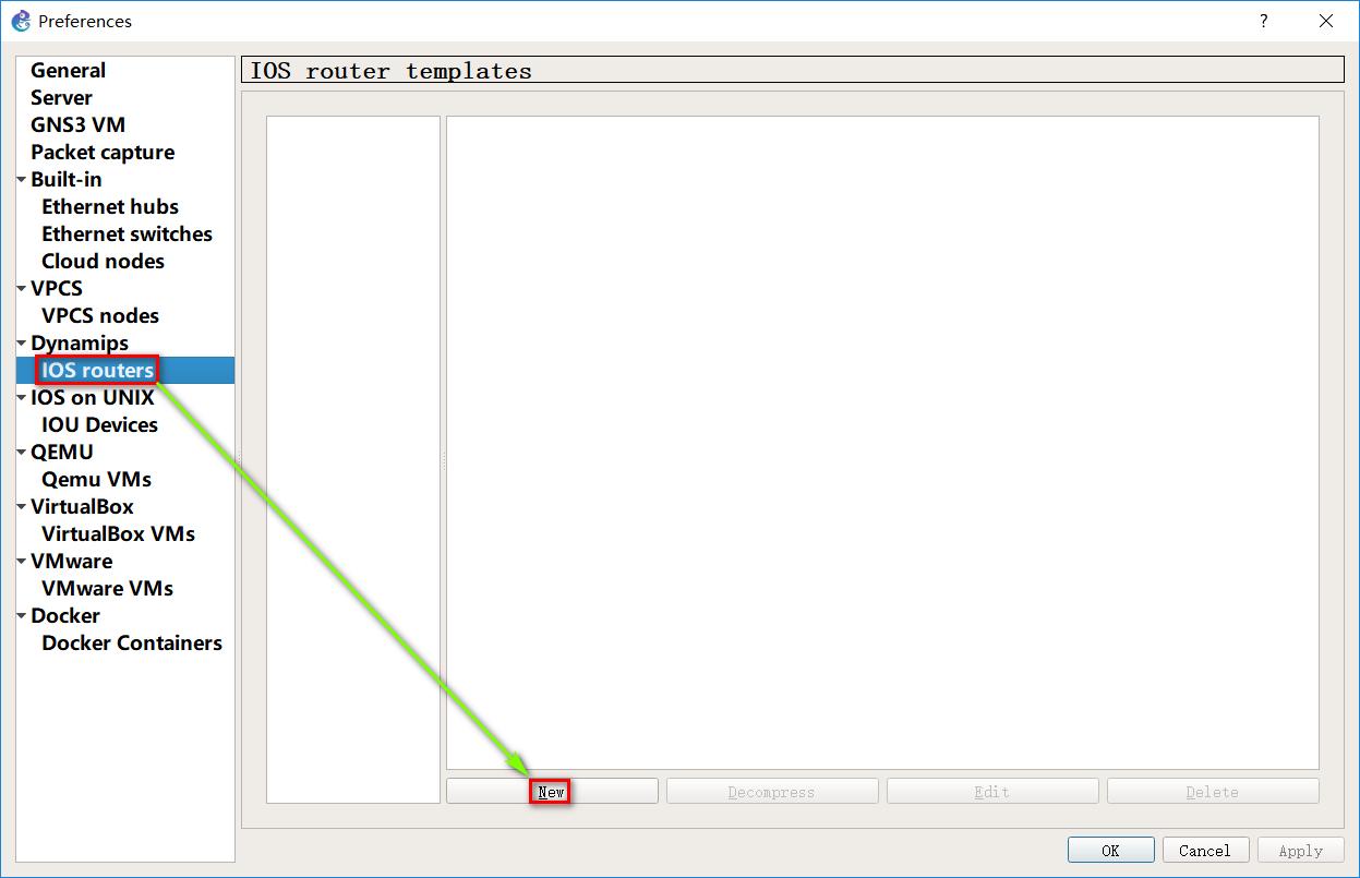 图 1 New 一个 IOS router